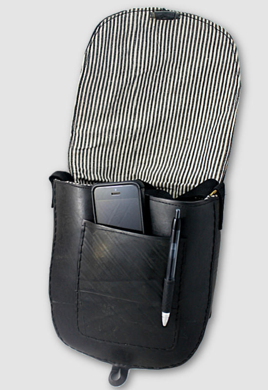 Recycled Rubber Messenger Bag