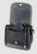 Recycled Rubber & Leather Purse