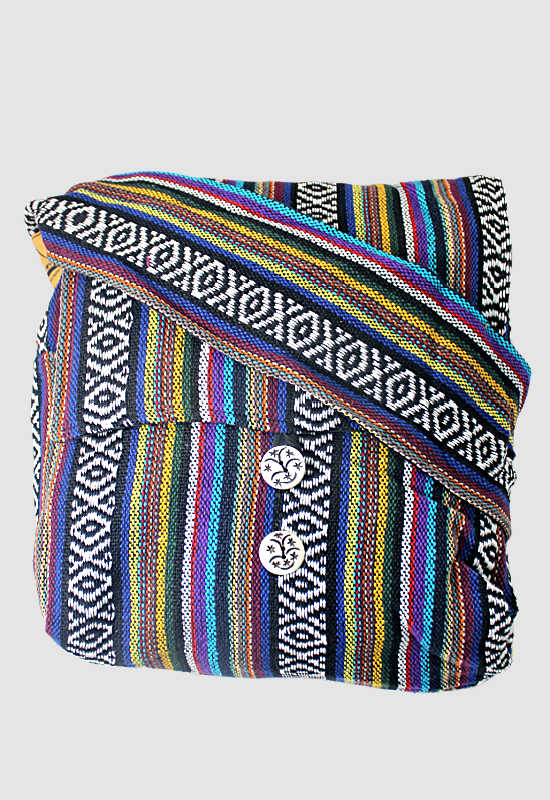 Cushioned Cotton Messenger Bag