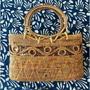Load image into Gallery viewer, Ata Vine Circle Tote