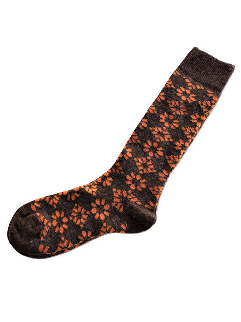 Load image into Gallery viewer, Floral Alpaca Socks