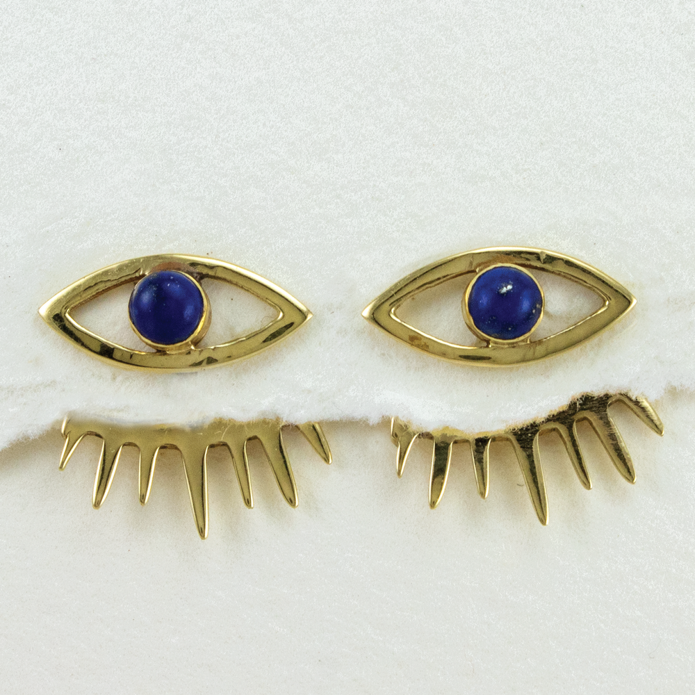 Load image into Gallery viewer, Eye of Delphi Earrings