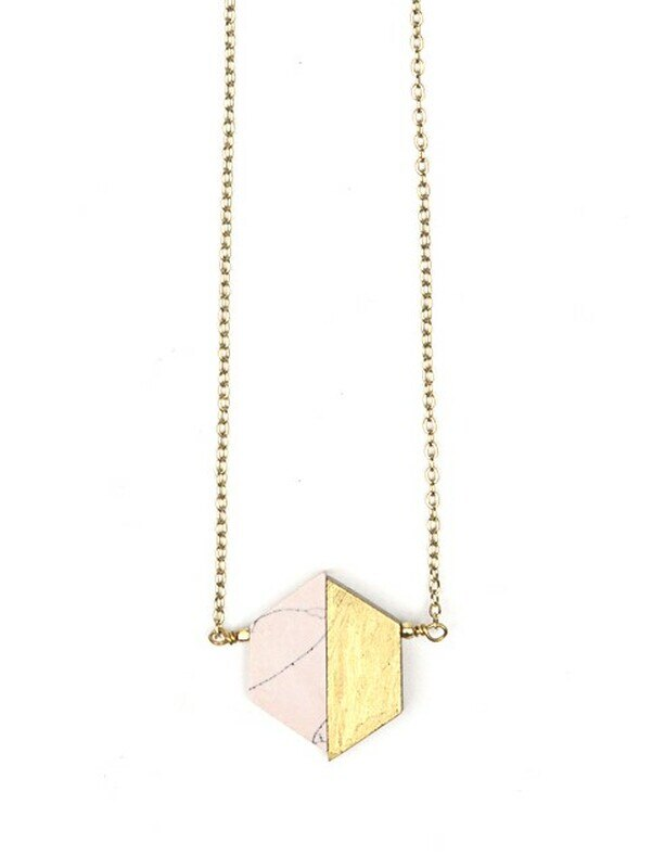 Balanced Geo Necklace Pink