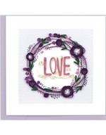 Love Wreath Quilling Card