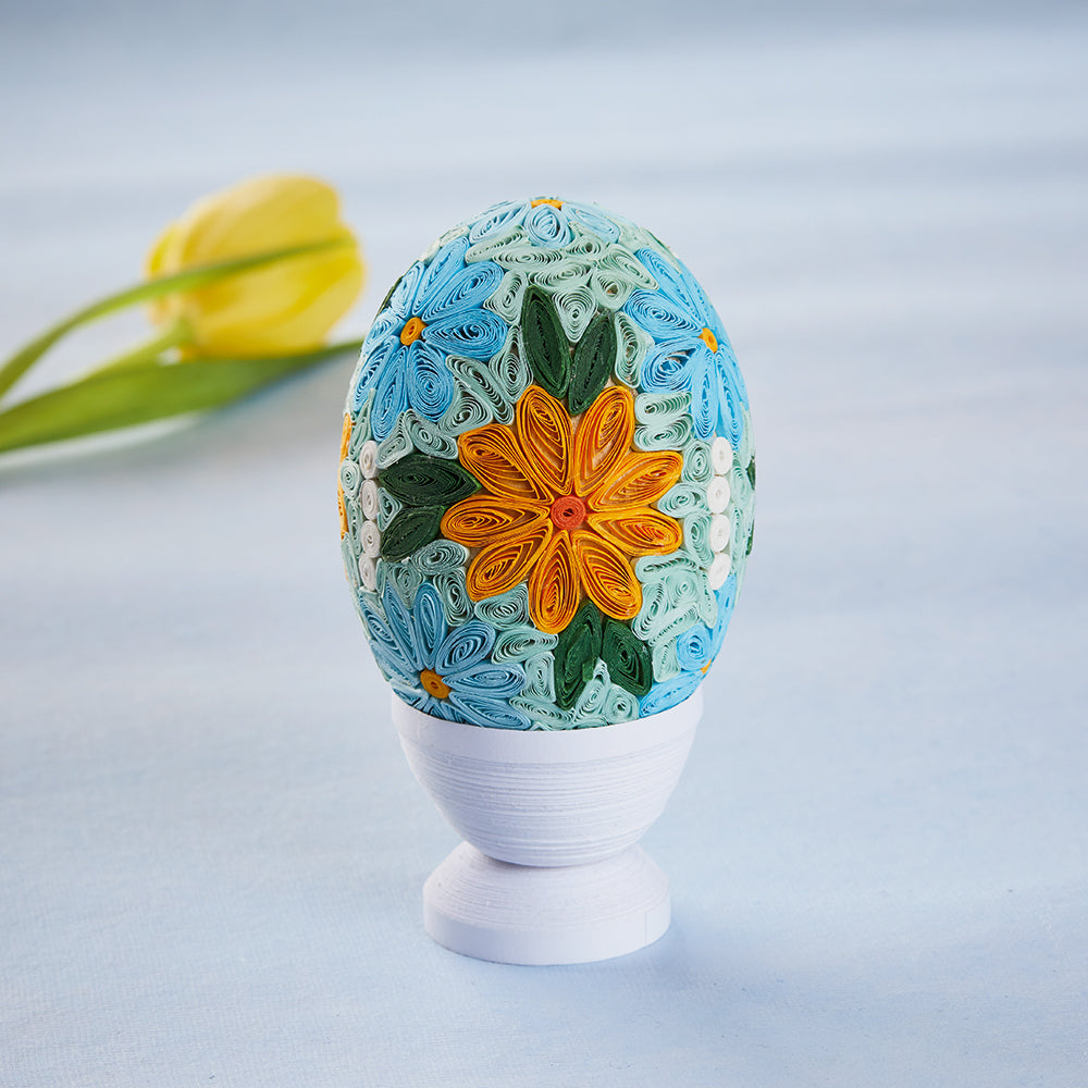 Grand Floral Quilled Egg