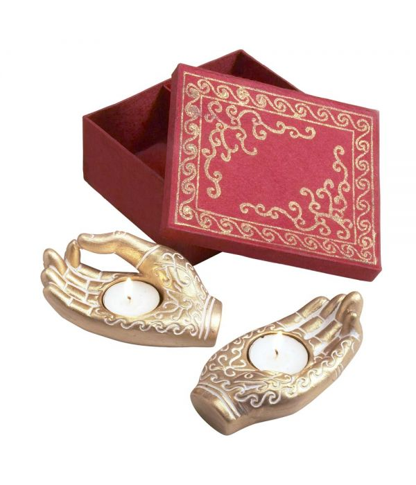 Mudra Hands Tealight