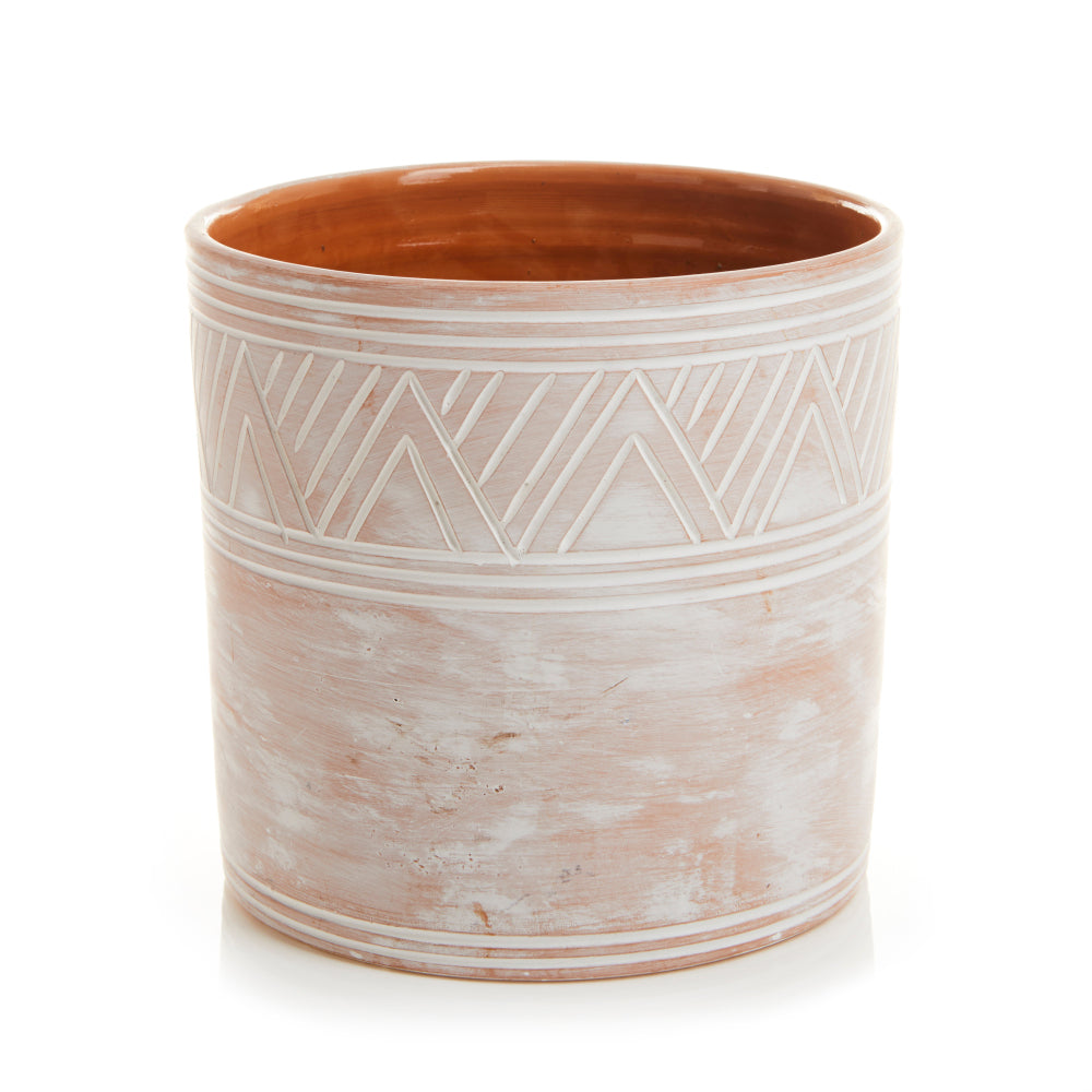 Etched Cylinder Planter - Small