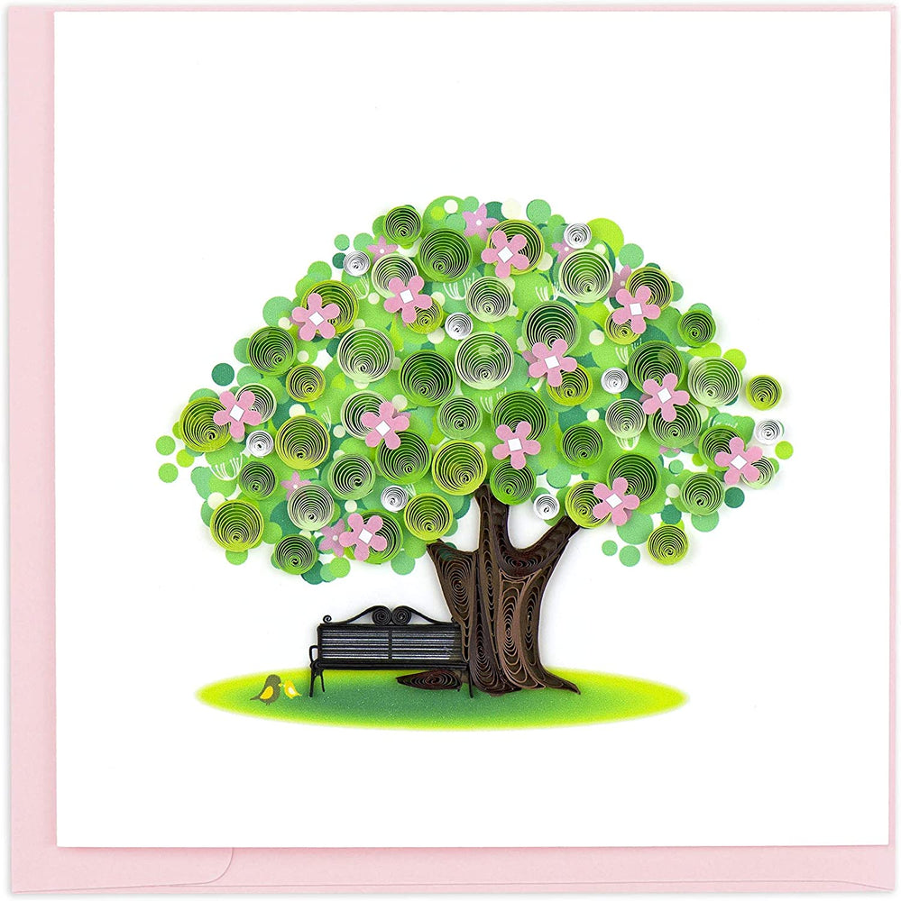Spring Tree Quilling Card