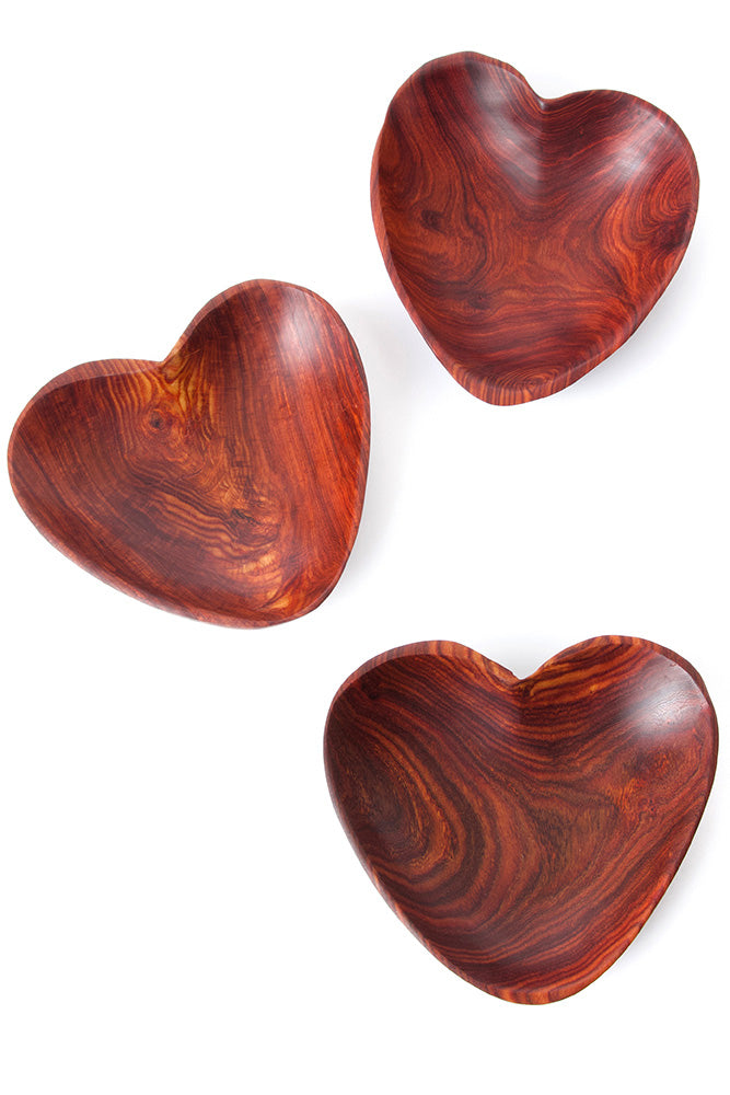 Large Teak Heart Dish