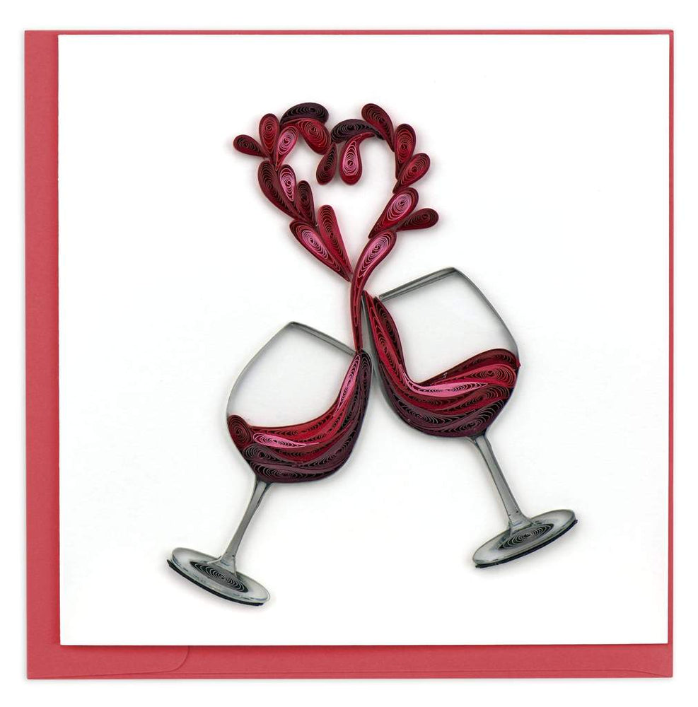 Toast To Love Quilling Card