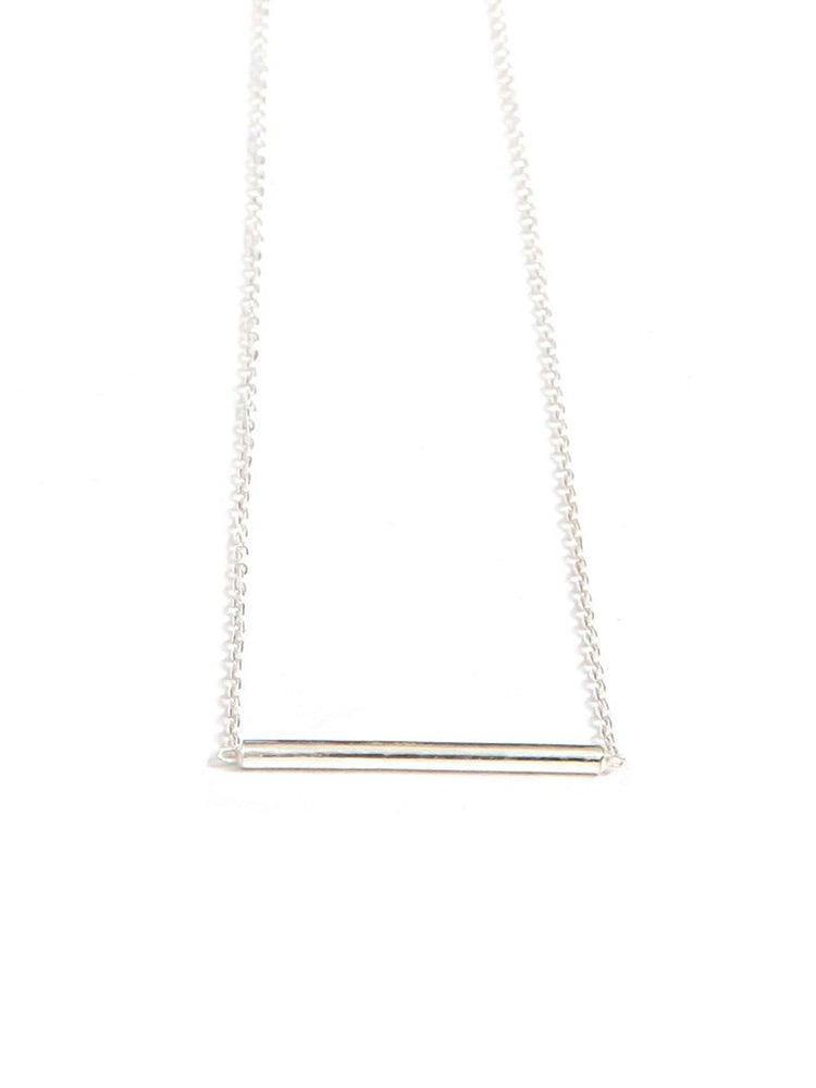 Dainty Tube Necklace - Sterling Silver