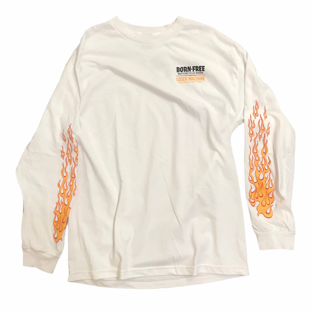 Loser Machine Peterson Long Sleeve Tee White