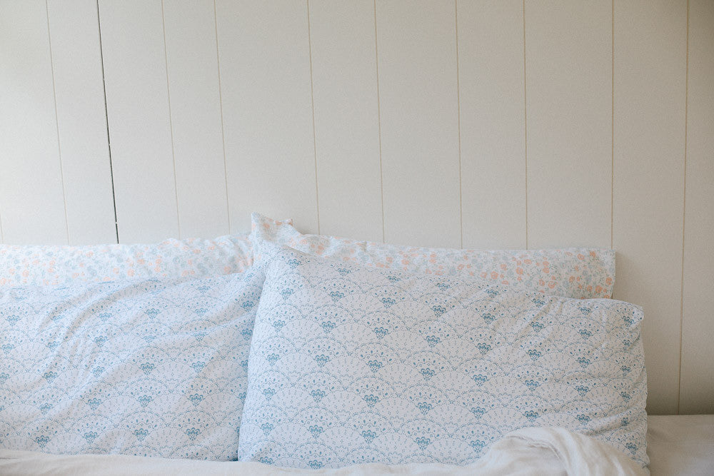 Oh Mabel Organic Vintage printed pillowcases