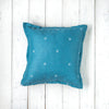 Oh Mabel Vintage Inspired Teal Linen Cushion