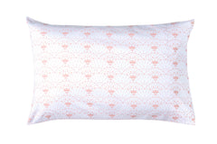 Oh Mabel Blush Printed Organic Cotton Pillowcases