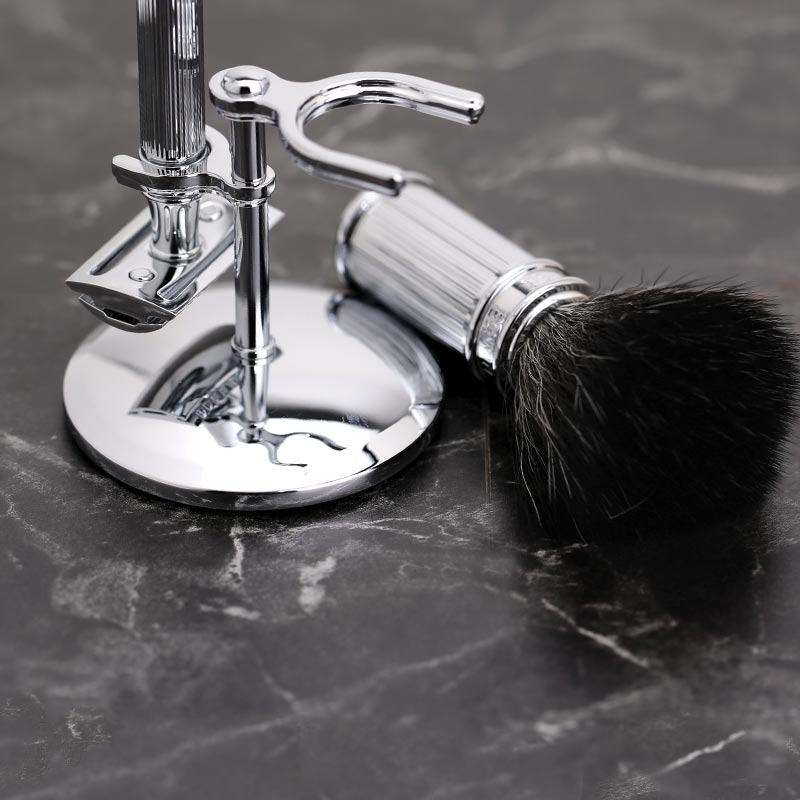 Edwin Jagger Chrome Lined 3 piece Shaving Set