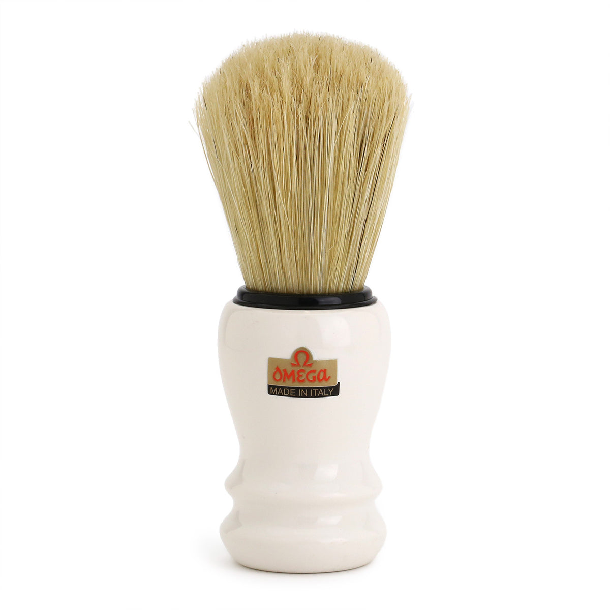 Omega Professional Pure Bristle Shaving Brush 10108 - White
