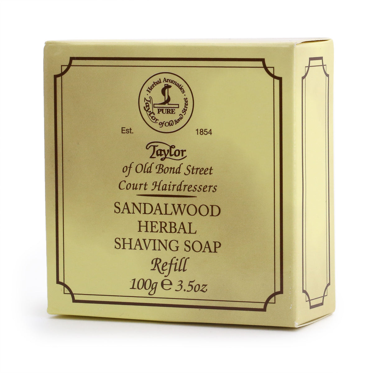 Taylor of Old Bond Street Herbal Shaving Soap Refill 100g - Sandalwood