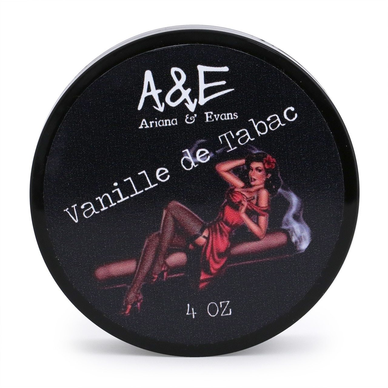 Ariana & Evans Shave Soap Vanille de Tabac - 118ml Tub, top view