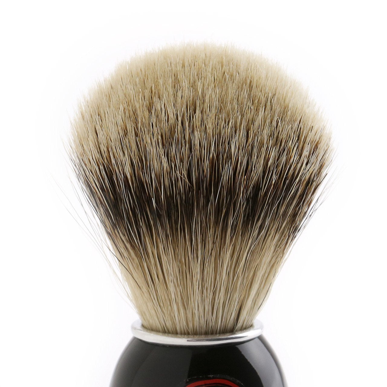 Semogue High Density Silver Tip Shaving Brush, black and clear retro acrylic handle