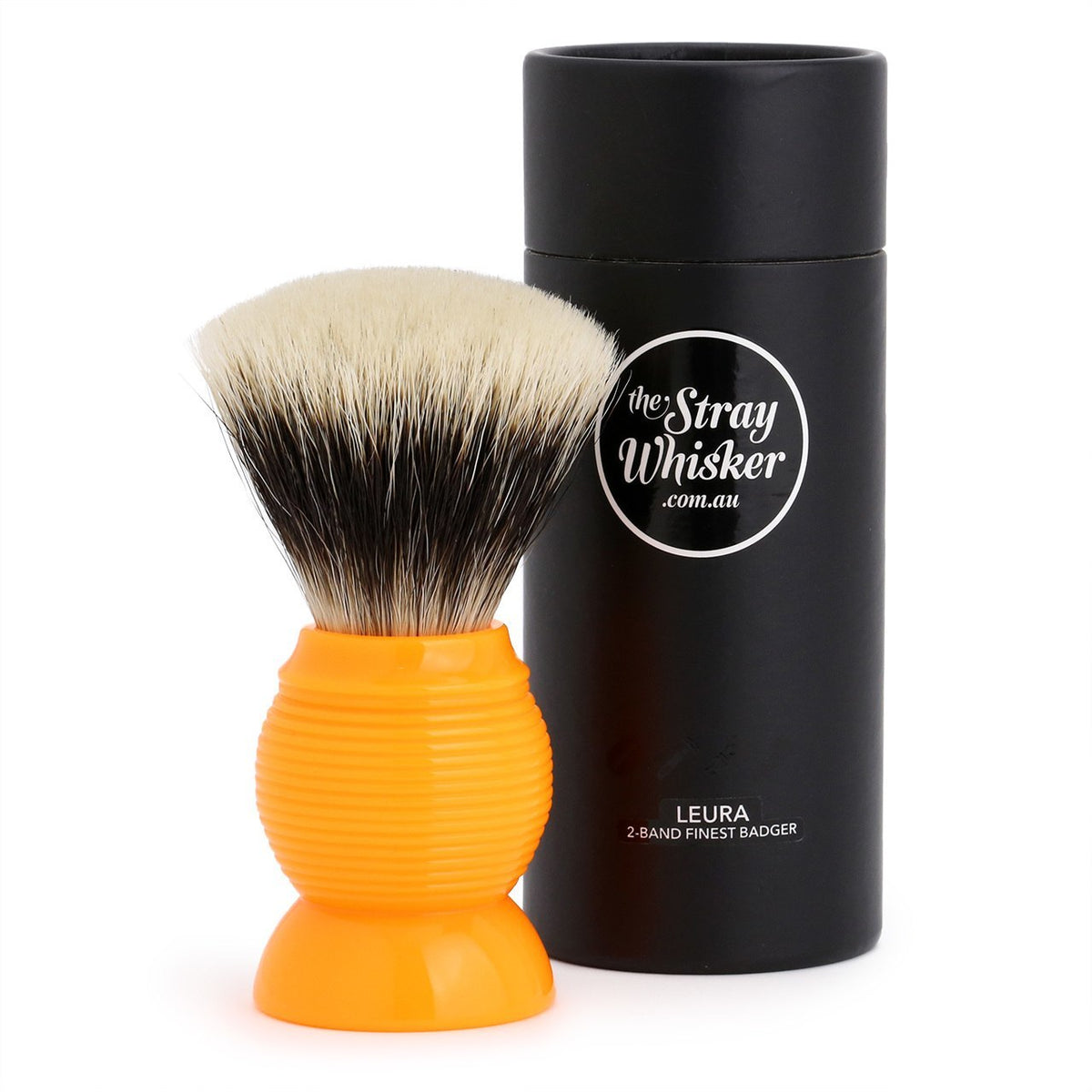 """The Leura"" 2 Band Finest Badger Shave Brush in Sunset Colour"