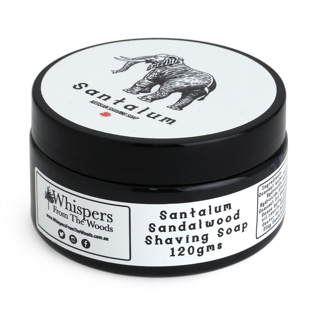 Whispers from the Woods Shaving Soap - Santalum