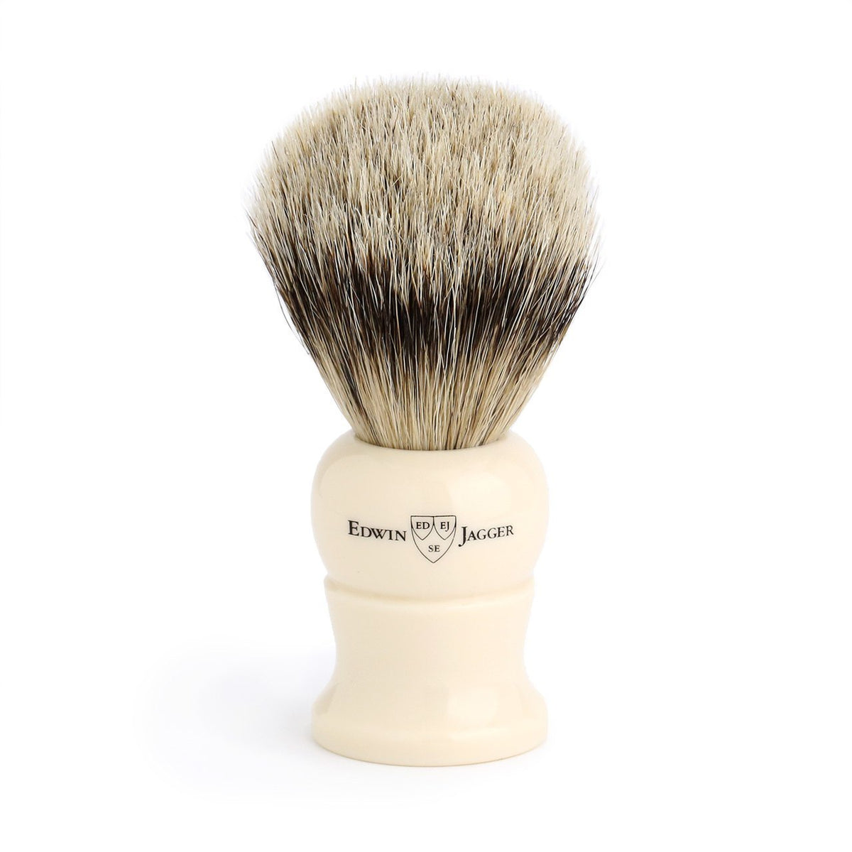 Edwin Jagger Super Badger Medium Shaving Brush - Imitation Ivory