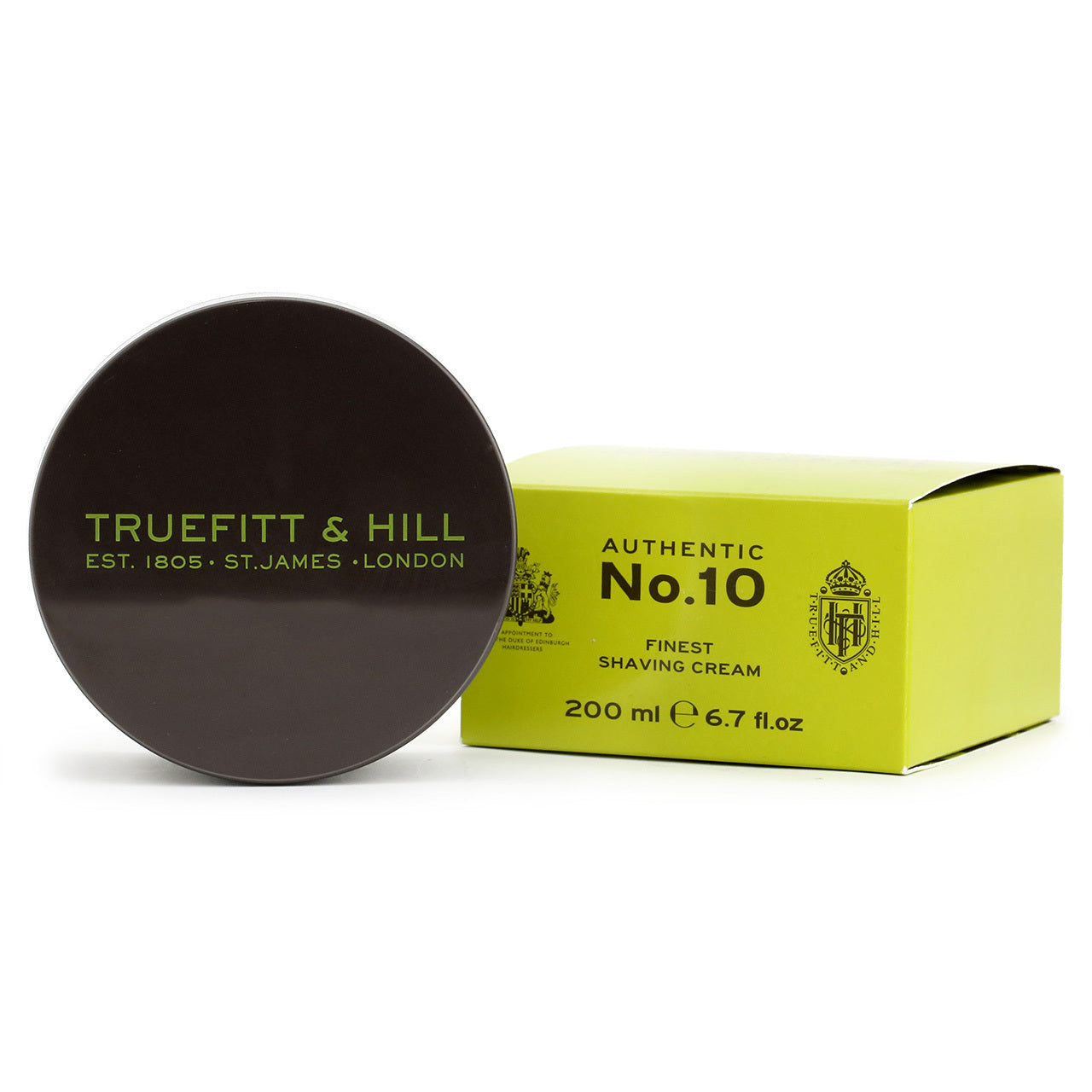 Truefitt & Hill Authentic No 10 Finest Shaving cream, 200ml tub and box