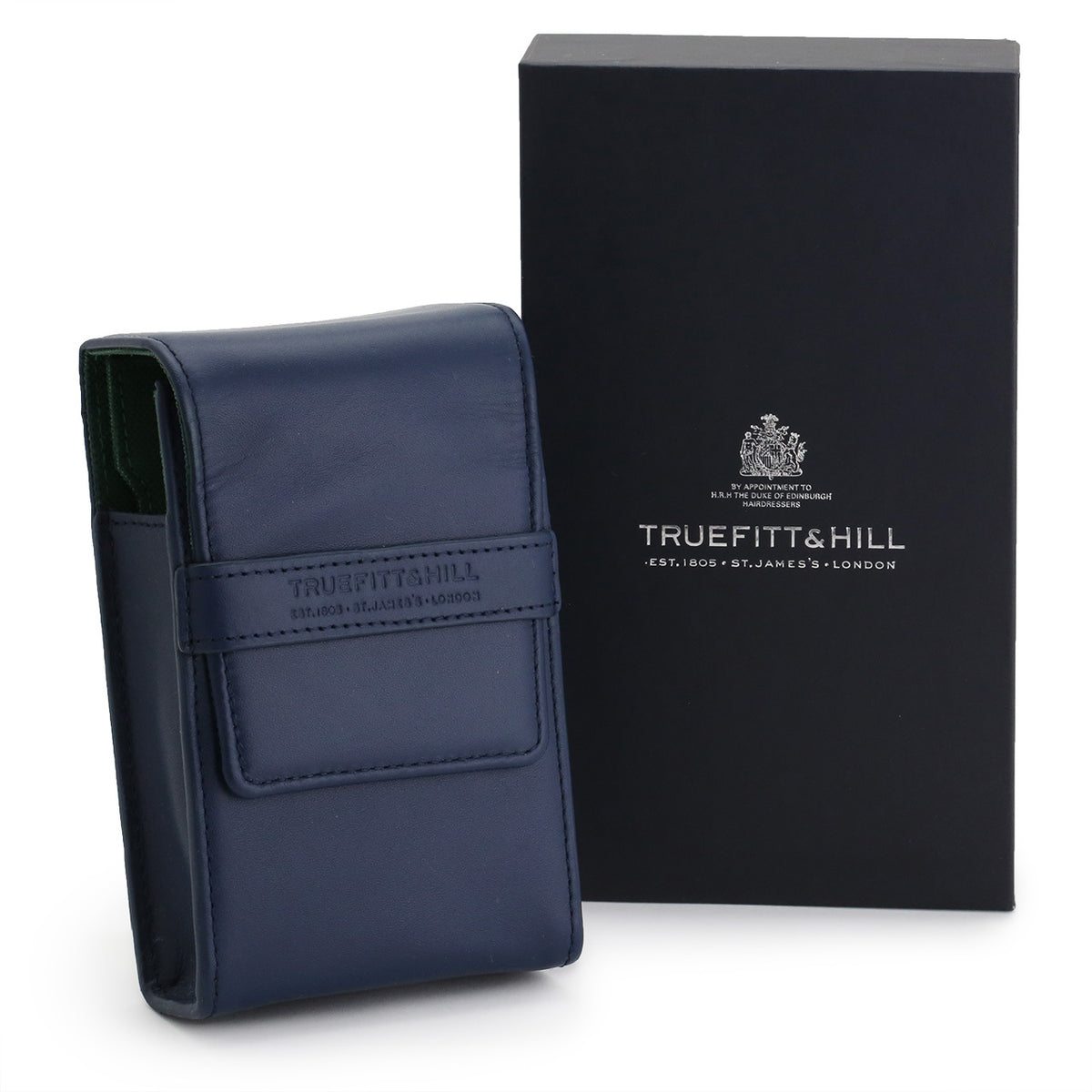 Truefitt & Hill Razor and Brush Travel Set Holder - Navy