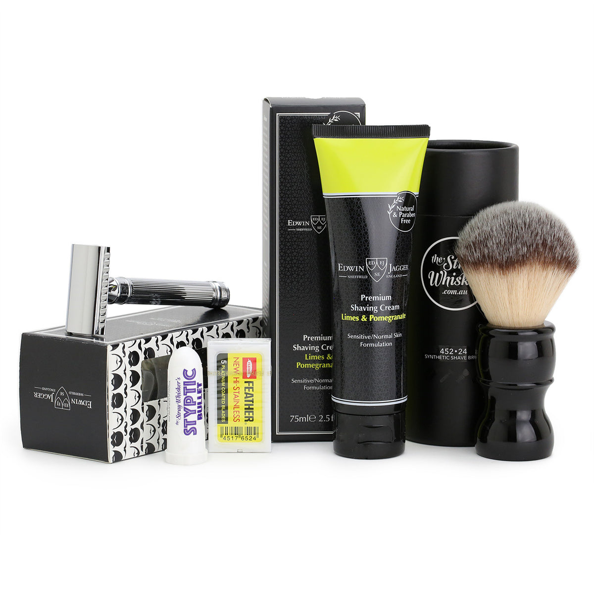 Edwin Jagger Wet-Shavers Kit - Feather