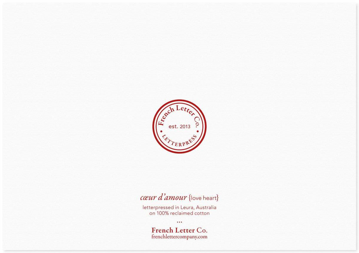 French Letter Co. Gift Card - Little Red Love Heart