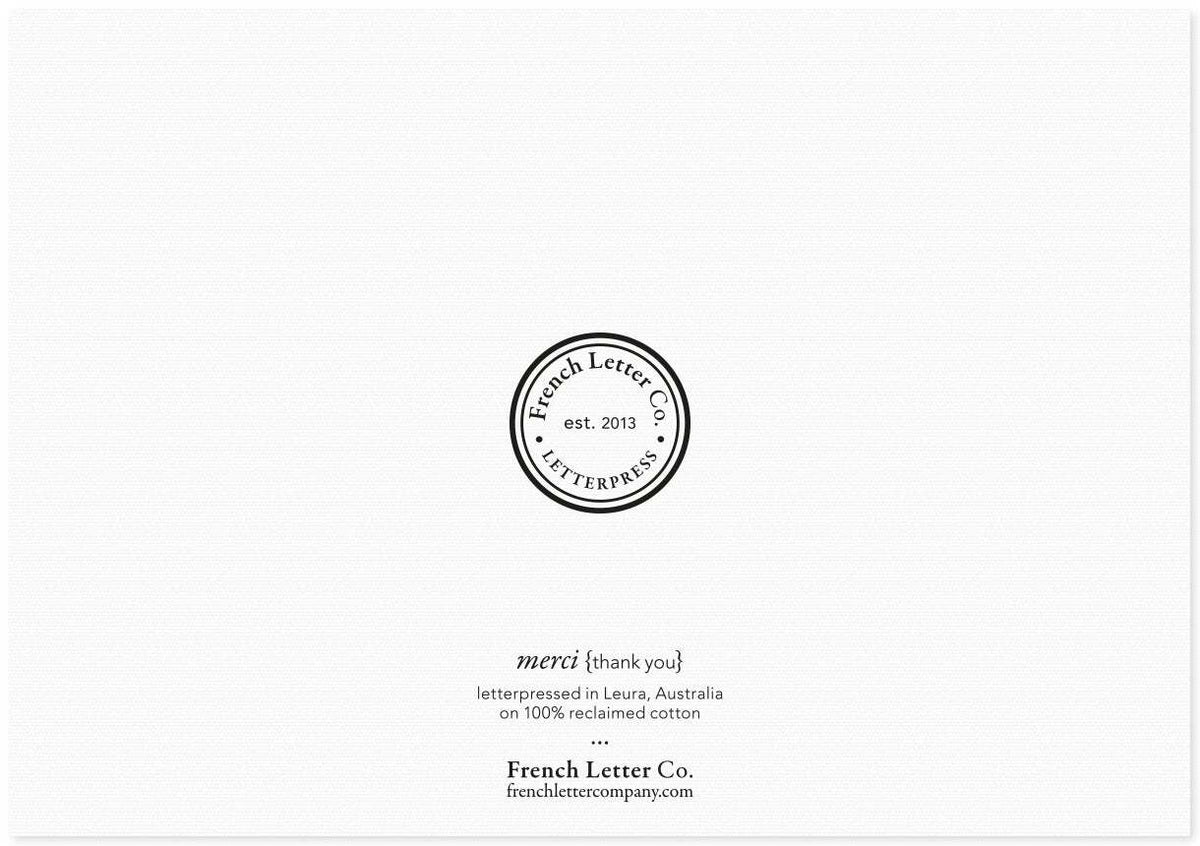French Letter Co. Gift Card - Thank You