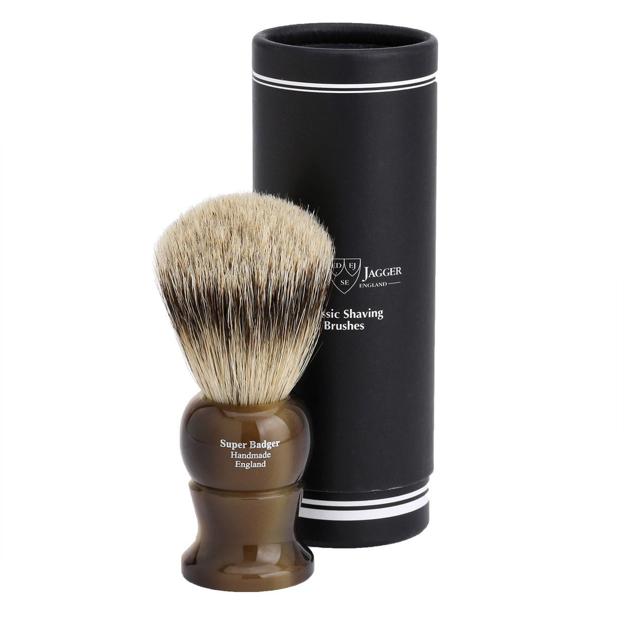 Edwin Jagger Super Badger Large Shaving Brush - Imitation Light Horn