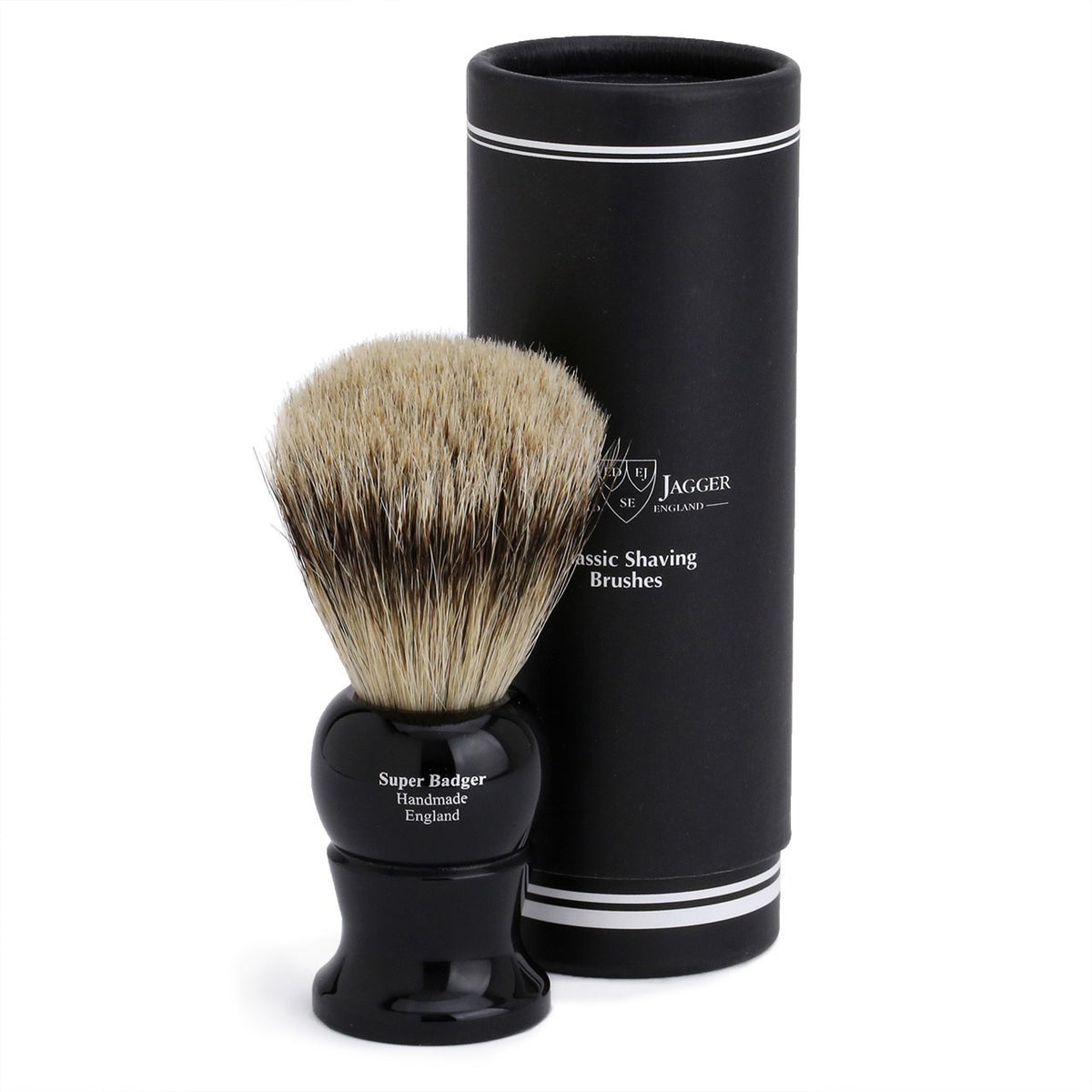 Edwin Jagger Super Badger Large Shaving Brush - Imitation Ebony