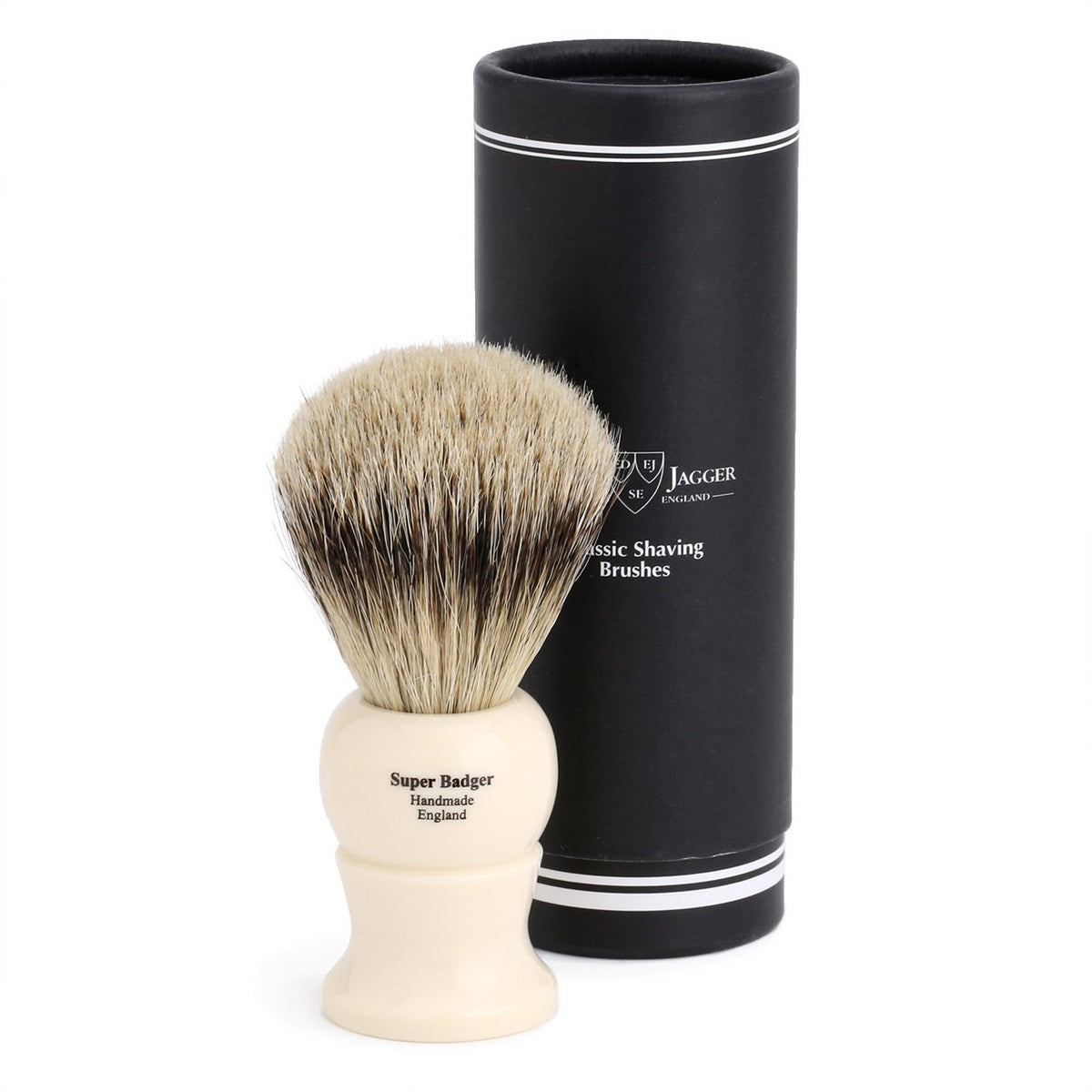 Edwin Jagger Super Badger Large Shaving Brush - Imitation Ivory