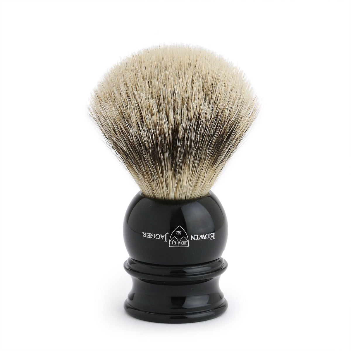 Edwin Jagger Silver Tip Shaving Brush Large - Ebony