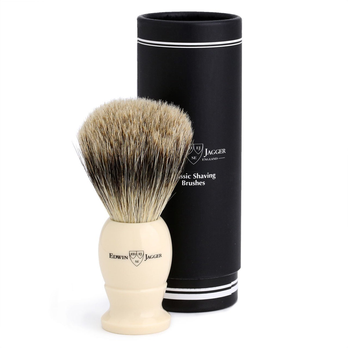 Edwin Jagger Best Badger Large Shaving Brush - Imitation Ivory