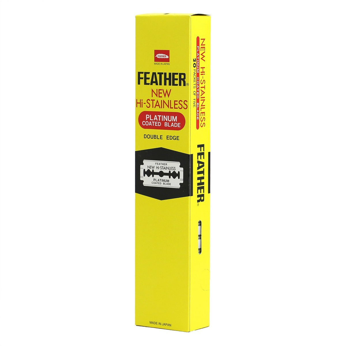 Feather New Hi-Stainless Razor Blades 100 Count
