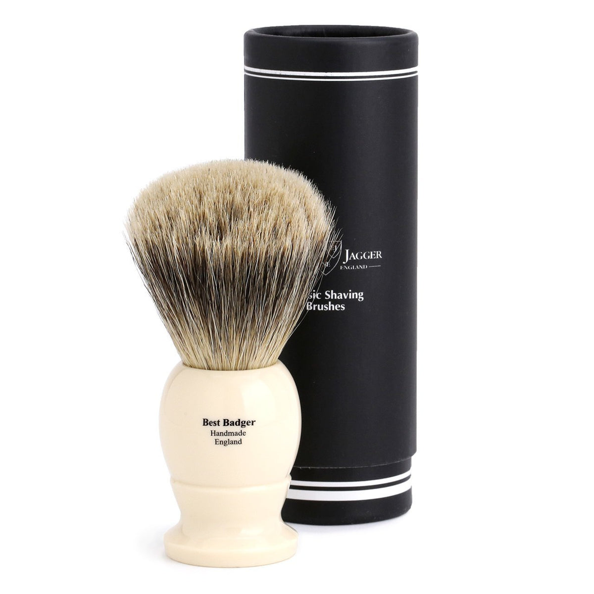 Edwin Jagger Best Badger Extra Large Shaving Brush - Imitation Ivory