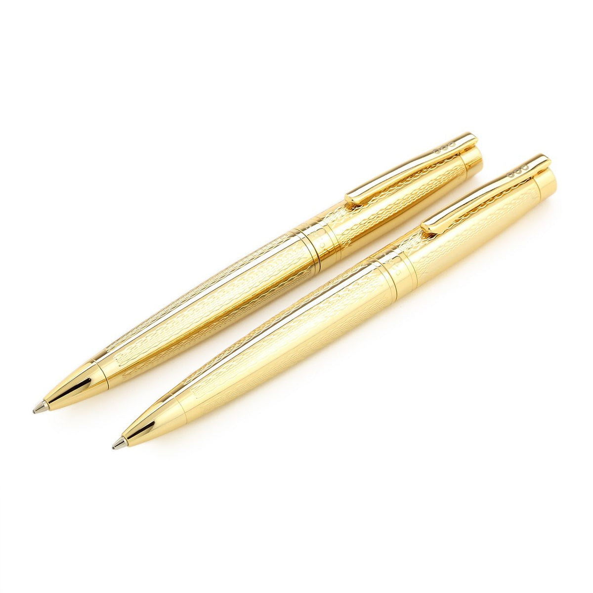 Scripto Tribute Ballpoint Pen & Pencil Set - Gold Etched