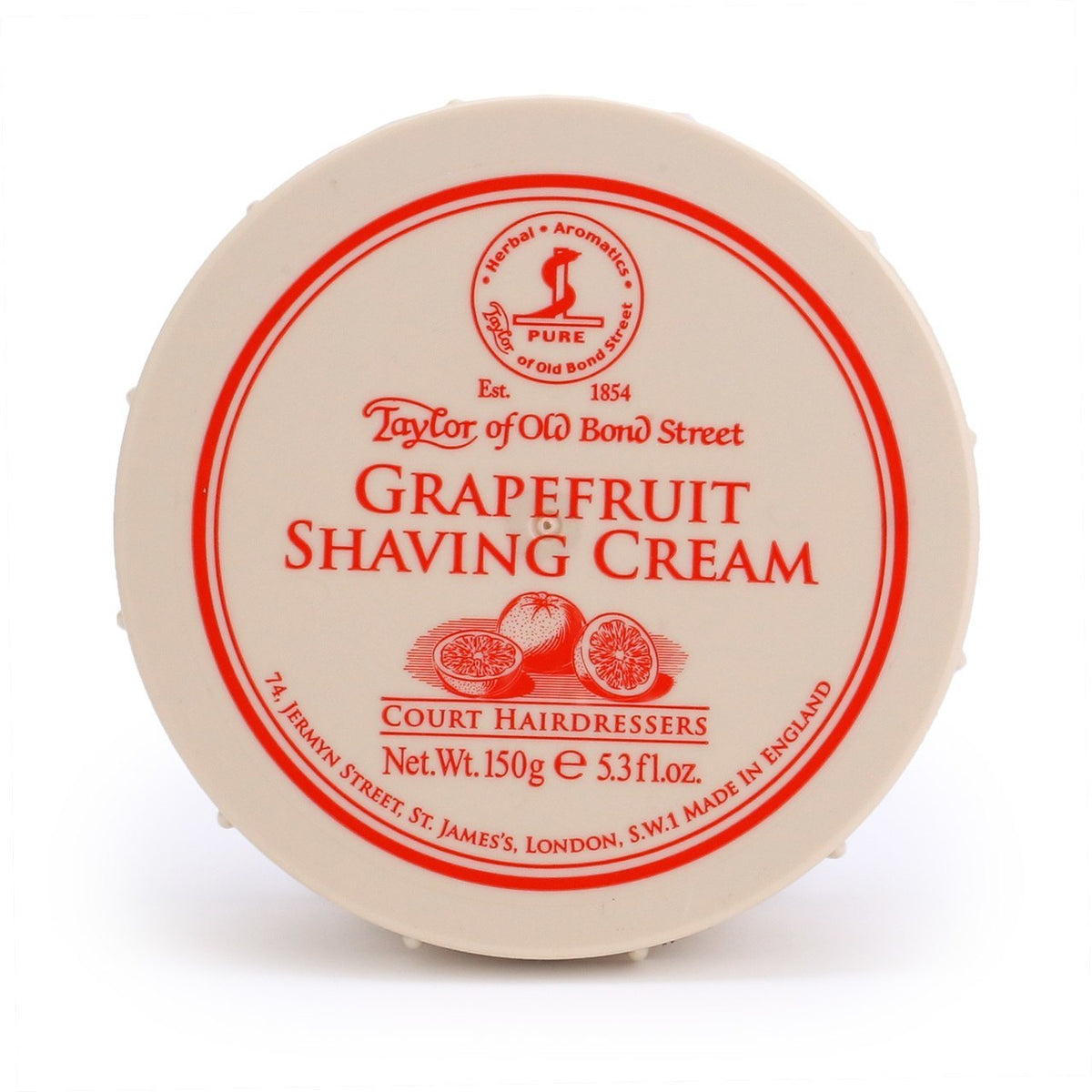 Taylor of Old Bond Street Grapefruit Shaving Cream Bowl 150g - Grapefruit