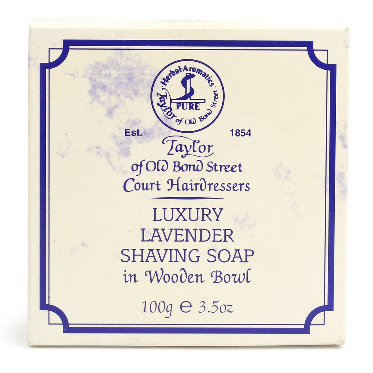 Taylor of Old Bond Street Shaving Soap In Wooden Bowl 100g - Lavender