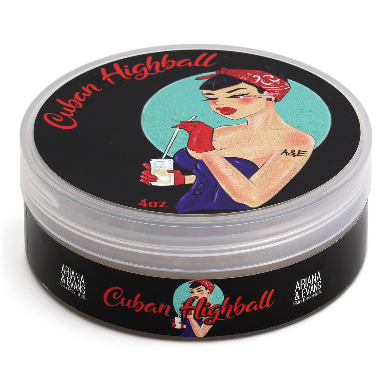 Ariana & Evans Shave Soap Cuban Highball - 118ml Tub, Front view