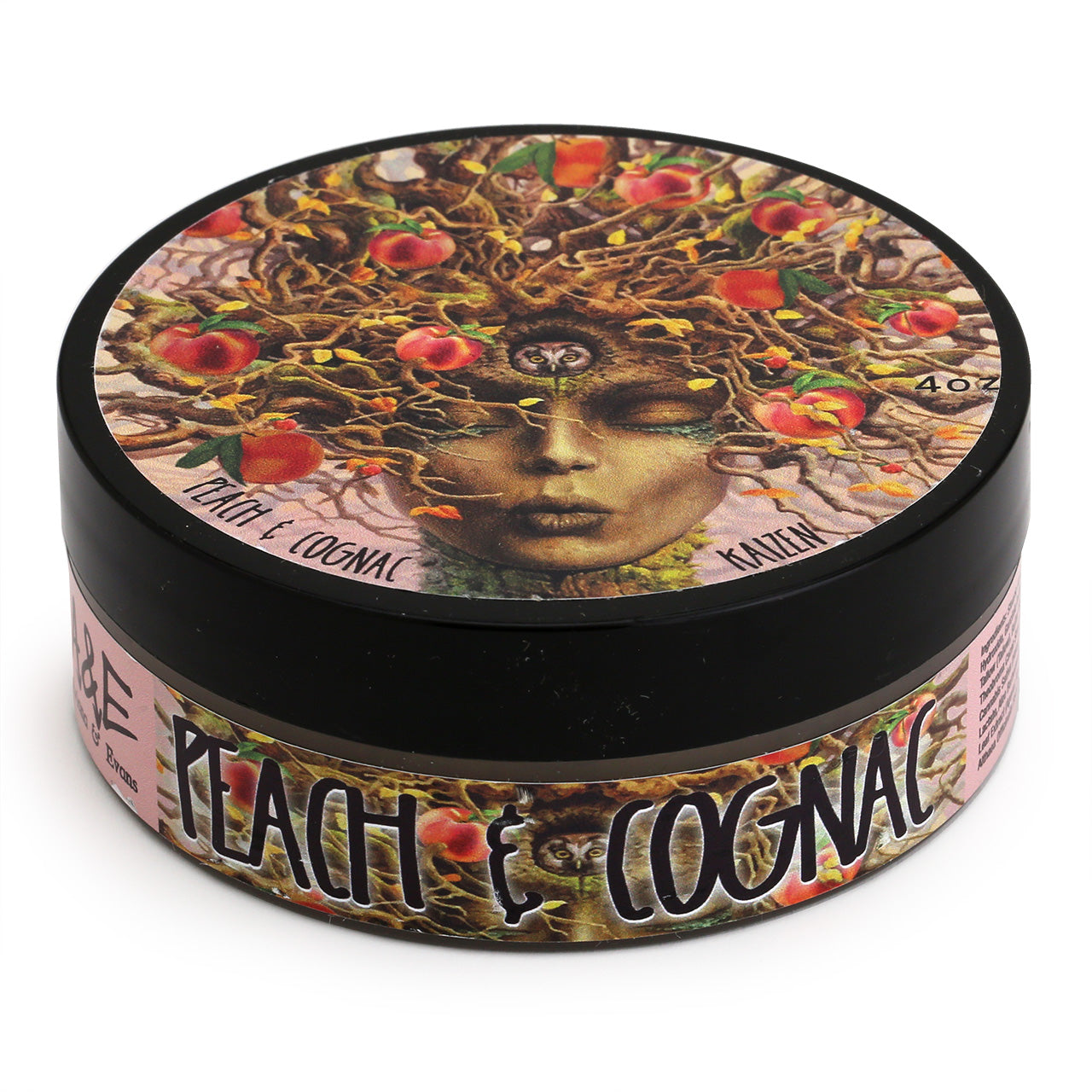 Ariana & Evans Shave Soap Peach Cognac - 118ml Tub top view