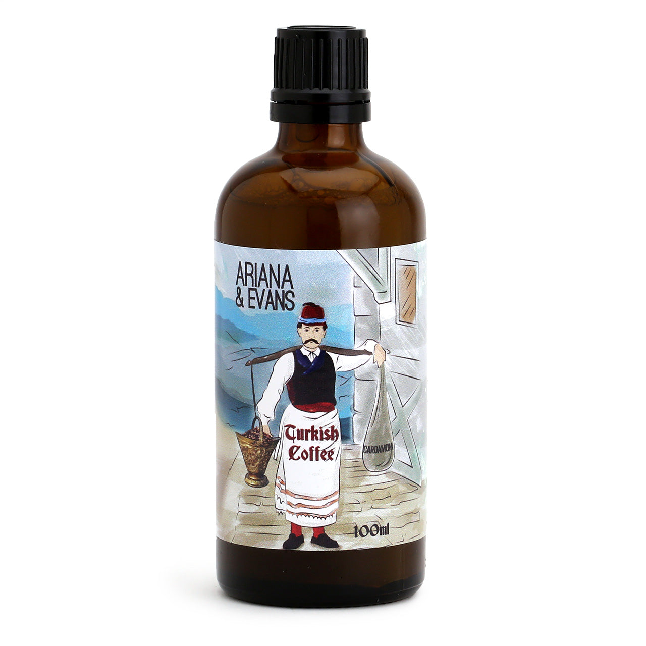 Ariana & Evans Aftershave Splash & Skinfood - Turkish Coffee - 100ml bottle