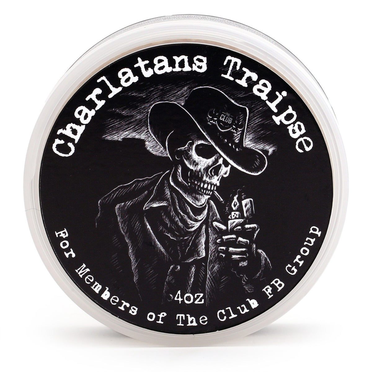A & E Shave Soap - Charlatan's Traipse, Top view
