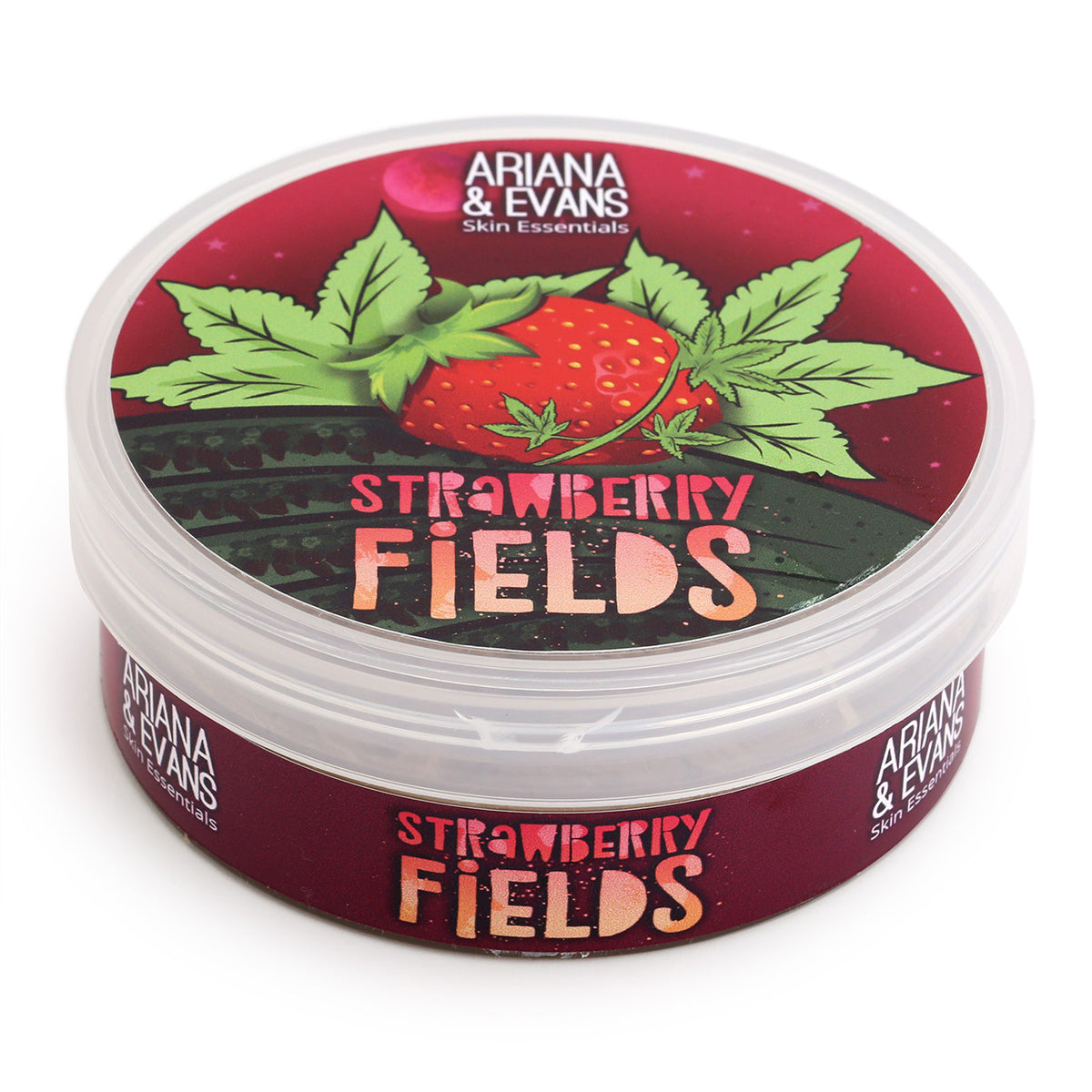 Ariana & Evans Shave Soap - Strawberry Fields - 118ml Tub, 3/4 view