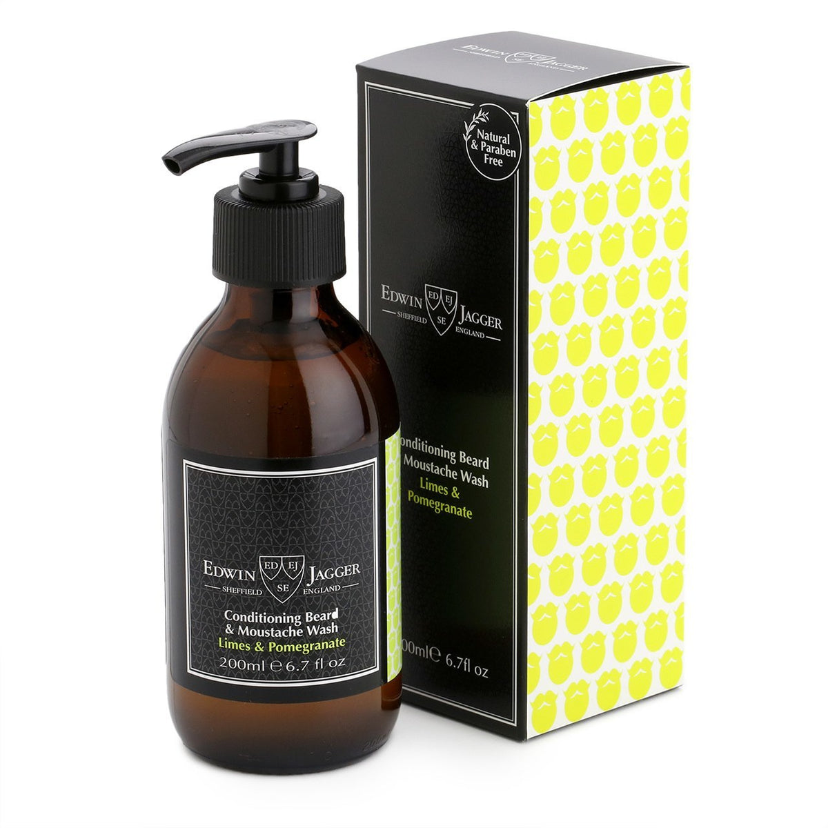 Edwin Jagger Beard & Moustache Wash - Limes and Pomegranate