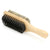Beard Brush, two sided with wooden paddle handle - three quarter view