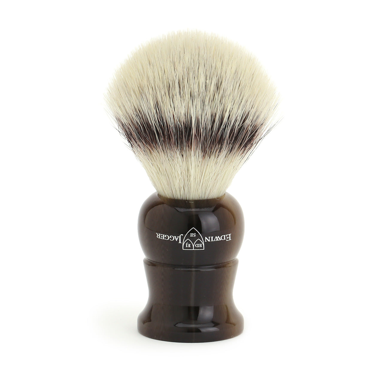 Edwin Jagger Cruelty Free Shaving Brush on drip stand